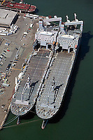 aerial photograph vessels berthed Pier 50 San Francisco, California