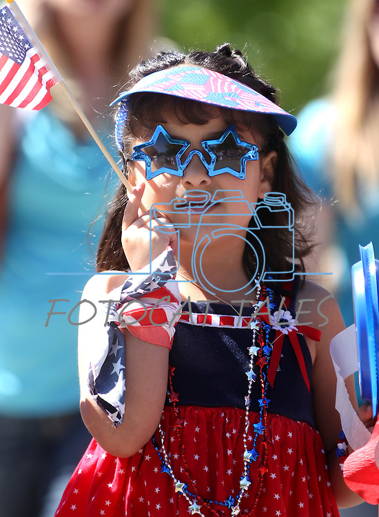 Students from Kinderland Nursery School participate in the annual 4th of July parade in downtown Carson City, Nev., on Friday, July 1, 2011..Photo by Cathleen Allison