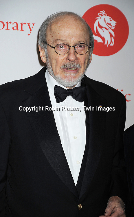 EL Doctorow ..arriving at The New York Public Library 2008 Library Lions Benefit Gala on November 3, 2008 at The New York Public Library at 42nd Street and 5th Avenue.....Robin Platzer, Twin Images