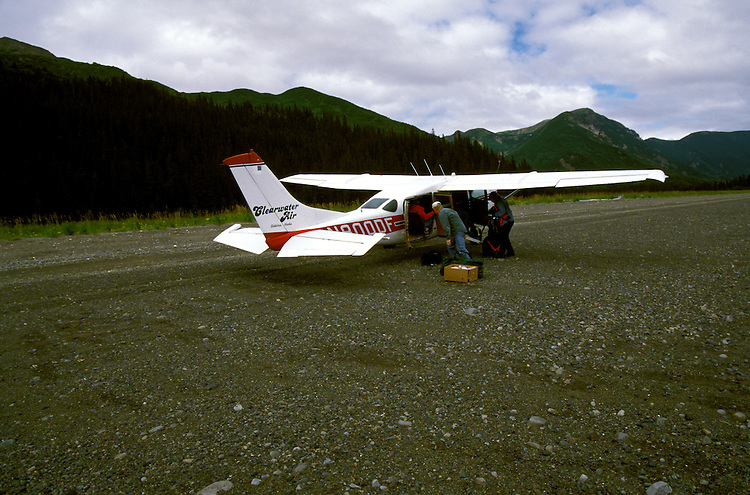 AK: Lake Clark National Park, Alaska, bush plane flight out of Bear Camp   .Photo Copyright: Lee Foster, lee@fostertravel.com, www.fostertravel.com, (510) 549-2202.Image: akbear220