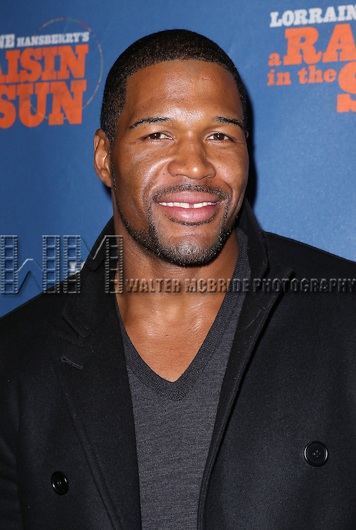 Michael Strahan attending the Broadway Opening Night Performance of 'A Raisin In The Sun'  at the Barrymore Theatre on April 3, 2014 in New York City.