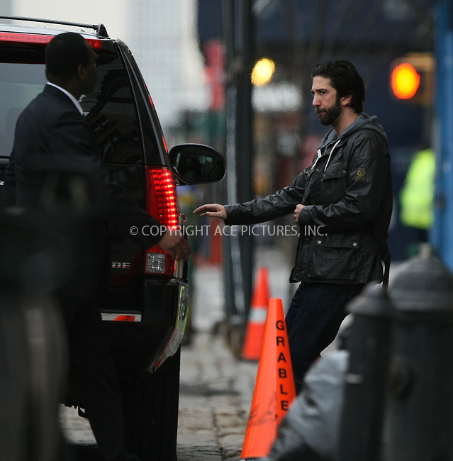 WWW.ACEPIXS.COM . . . . .  ....March 30 2011, New York City....Actor and Director David Schwimmer leaving a building in downtown Manhattan on March 30 2011 in New York City....Please byline: PHILIP VAUGHAN - ACE PICTURES.... *** ***..Ace Pictures, Inc:  ..Philip Vaughan (212) 243-8787 or (646) 679 0430..e-mail: info@acepixs.com..web: http://www.acepixs.com