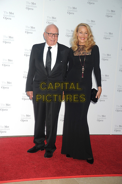 NEW YORK, NY - SEPTEMBER 25: Rupert Murdoch, Jerry Hall   attends Metropolitan Opera Opening Night Gala at Lincoln Center on September 25, 2017 in New York City.<br /> CAP/MPI122<br /> &copy;MPI122/Capital Pictures