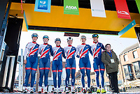 Picture by SWpix.com - 03/05/2018 - Cycling - 2018 Asda Women's Tour de Yorkshire - Stage 1: Beverley to Doncaster - The Women's Great Britain Cycling Team. Rhona Callander, Abbie Dentus, Megan Barker, Ellie Dickinson, Emily Wadsworth and Dani Rowe.