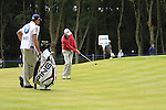 Rhys Davies (WAL) chips onto the 1st green during the Final Day of the BMW PGA Championship Championship at, Wentworth Club, Surrey, England, 29th May 2011. (Photo Eoin Clarke/Golffile 2011)