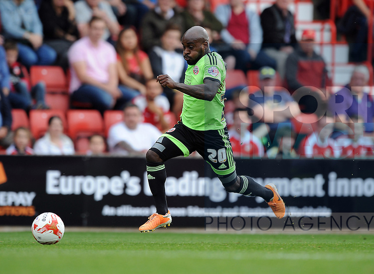 Jamal Campbell-Ryce of Sheffield United<br /> - English League One - Swindon Town vs Sheffield Utd - County Ground Stadium - Swindon - England - 29th August 2015
