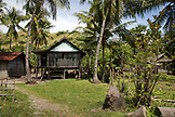 INDONESIA, Flores, house on stilts in Bekak village on the way to Riang