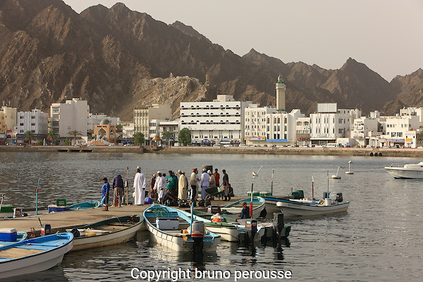 Asie; Moyen Orient; Golfe d'Oman; sultanat d'Oman; Mascate; quartier de Mutrah; port de pêche//Asia; Middle East; Gulf of Oman; sultanate of Oman; Muscat; Mutrah district; fishing harbour