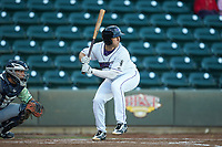 Jordan George (12) of the Winston-Salem Dash at bat against the Wilmington Blue Rocks at BB&T Ballpark on April 15, 2019 in Winston-Salem, North Carolina. The Dash defeated the Blue Rocks 9-8. (Brian Westerholt/Four Seam Images)