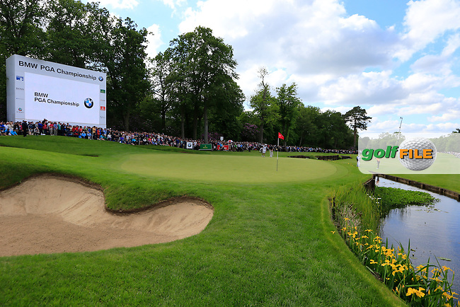A view of the 18th green during the final round of the BMW PGA championship, Wentworth Golf Club, Virginia Water, London.<br /> Picture: Fran Caffrey www.golffile.ie