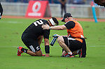 Ash Dixon, Dr Zig Khouri. Maori All Blacks vs. Fiji. Suva. MAB's won 27-26. July 11, 2015. Photo: Marc Weakley