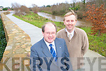 John Griffin, Tralee Development Officer and Gerry Riordan, Tralee Town Engineer, at the newly developed walk along the River Lee.    Copyright Kerry's Eye 2008