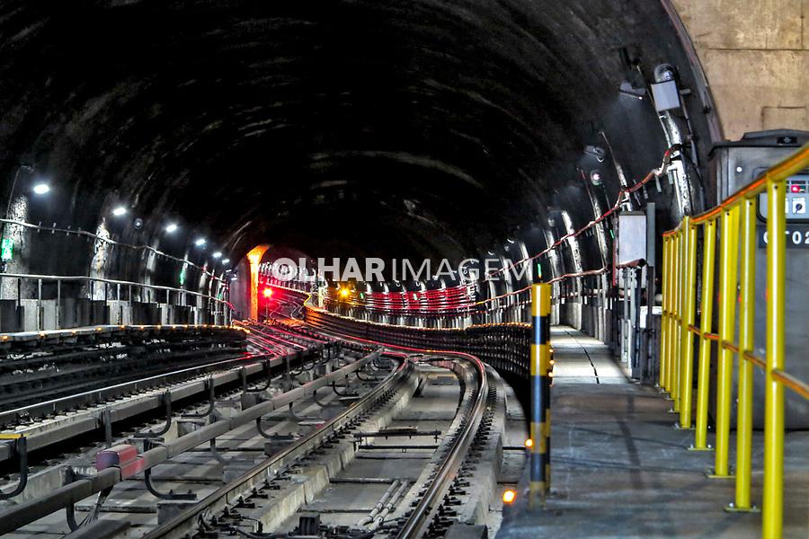 Tunel de linha do Metro, Sao Paulo. 2013. Foto Juca Martins