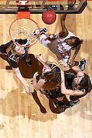SAN ANTONIO , TX - JANUARY 27, 2010: The Texas State University Bobcats vs. The University of Texas At San Antonio Roadrunners Women's Basketball at the UTSA Convocation Center. (Photo by Jeff Huehn)