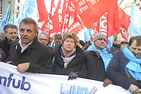 - Milano, manifestazione per lo sciopero nazionale dei bancari per il rinnovo del contratto e contro la diminuzione dei posti di lavoro; Susanna Camusso, segretario generale del sindacato CGIL<br />