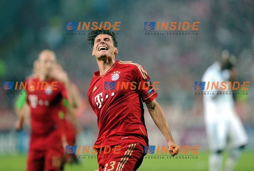 Mario Gomez (Bayern).Marsiglia, 28/03/2012.1/4 di finale Uefa Champions League.Marsiglia vs Bayern Monaco 0-2.Foto Insidefoto / Anthony Bibard /Panoramic..Italy Only