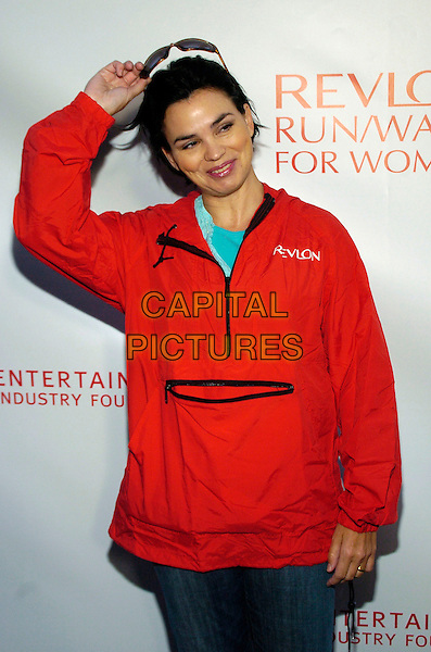 KAREN DUFFY.Entertainment Industry Foundation's 10th Anniversary Revlon Run/Walk for Women in Times Square, New York City, New York, USA, .5 May 2007 .half length red.CAP/ADM/BL.©Bill Lyons/AdMedia/Capital Pictures. *** Local Caption ***
