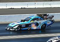Feb 13, 2016; Pomona, CA, USA; NHRA funny car driver Jeff Diehl during qualifying for the Winternationals at Auto Club Raceway at Pomona. Mandatory Credit: Mark J. Rebilas-USA TODAY Sports