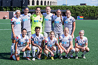 Boston, MA - Saturday June 24, 2017: North Carolina Courage starting eleven during a regular season National Women's Soccer League (NWSL) match between the Boston Breakers and the North Carolina Courage at Jordan Field.