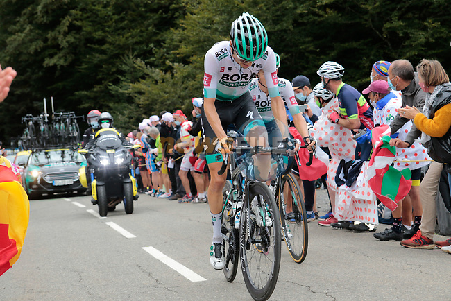 Emanuel Buchmann (GER) Bora-Hansgrohe climbs Col de Marie Blanque during Stage 9 of Tour de France 2020, running 153km from Pau to Laruns, France. 6th September 2020. <br /> Picture: Colin Flockton | Cyclefile<br /> All photos usage must carry mandatory copyright credit (© Cyclefile | Colin Flockton)