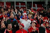 18th November 2019; Aviva Stadium, Dublin, Leinster, Ireland; European Championships 2020 Qualifier, Ireland versus Denmark; The Danish supporters cheer their team - Editorial Use