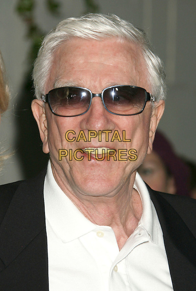 "LESLIE NIELSON .""Superhero Movie"" World Premiere held at the Mann Festival Theater, Westwood, California, USA, 27 March 2008..portrait headshot sunglasses .CAP/ADM/RE.©Russ Elliot/Admedia/Capital PIctures"