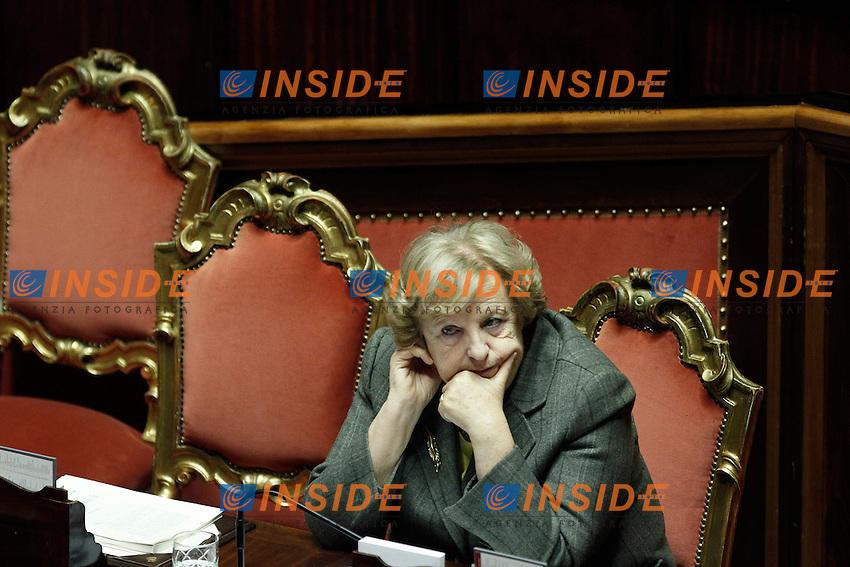 Anna Maria Cancellieri.Roma 24/01/2012 Informativa al Senato del Ministro dell'interno sul blocco dell'autotrasporto in Sicilia..Foto Insidefoto  Serena Cremaschi.............
