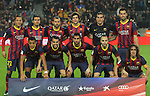 08.01.2014 Barcelona, Spain. Spanish Cup 1/8 Final. Picture show starting team during game between FC Barcelona against Getafe at Camp Nou