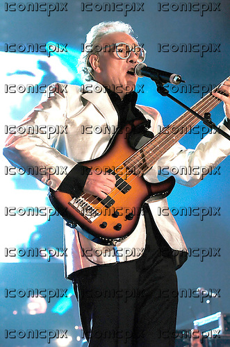 Trevor Horn - vocalist, bassist and producer - performing live as Buggles at a special performance for Trevor Horn's benefit in aid of the Prince's Trust at Wembley Arena<br /> London UK - 11 Nov 2004.  Photo credit: George Chin/IconicPix