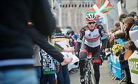 Ronde van Vlaanderen 2013..Fabian Cancellara (CHE) cheered to the start