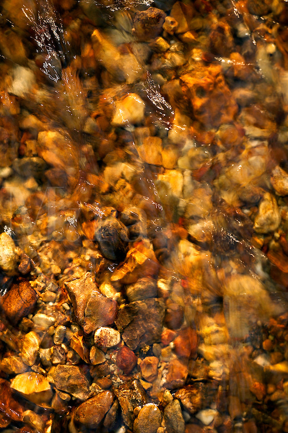 Rocks on bottom of stream, Tishomingo State Park, Mississippi