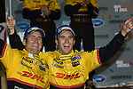11 August 2007: Penske Motorsports drivers Romain Dumas (FRA) and Timo Bernhard (DEU) celebrate their victory at the Generac 500 at Road America, Elkhart Lake, WI.