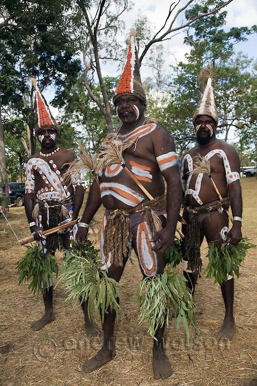 Mornington Island dancers at the Laura Aboriginal Dance Festival.  Laura, Queensland, Australia