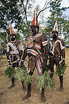 Mornington Island dancers at the Laura Aboriginal Dance Festival.  Laura, Queensland, Australia