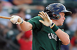 Jeremy Hazelbaker of the Greenville Drive, Class A affiliate of the Boston Red Sox, at a game against the Lexington Legends April 25, 2010, at Fluor Field at the West End in Greenville, S.C. Photo by: Tom Priddy/Four Seam Images