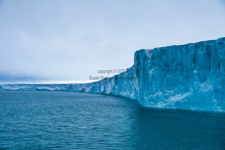 Austfonna Ice Cap on Nordaustlandet, Svalbard, Norway