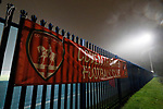 Coventry United 3 Highgate United 5, 17/10/2017. Butts Park Arena, Birmingham Senior Cup. A Coventry United banner on the Butts Park Arena fence.  Photo by Paul Thompson.