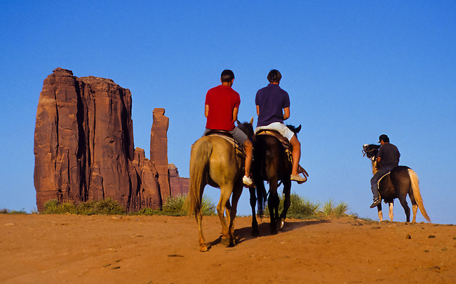 Monument Valley National Park and navaho Indian reservation,  Utah, USA