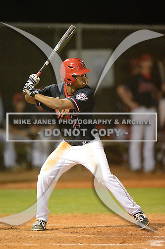 Ball State Cardinals second baseman Jarrett James (14) during a game against the Mississippi Valley State Delta Devils on February 21, 2014 at North Charlotte Regional Park in Port Charlotte, Florida.  Ball State defeated Mississippi Valley 12-1.  (Copyright Mike Janes Photography)