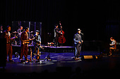 CORAL SPRINGS FL - OCTOBER 19: Andy Rowley, Mitchell Cooper, Karl Hunter, Kurt Sodergren, Dirk Shumaker, Scotty Morris and Joshua Levy of Big Bad Voodoo Daddy perform at Coral Springs Center for the Arts on October 19, 2017 in Coral Springs, Florida. Photo by Larry Marano © 2017
