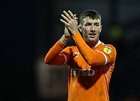 Blackpool's Chris Long applauds his side's travelling supporters at the end of the match <br /> <br /> Photographer Andrew Kearns/CameraSport<br /> <br /> The EFL Sky Bet League One - Portsmouth v Blackpool - Saturday 12th January 2019 - Fratton Park - Portsmouth<br /> <br /> World Copyright &copy; 2019 CameraSport. All rights reserved. 43 Linden Ave. Countesthorpe. Leicester. England. LE8 5PG - Tel: +44 (0) 116 277 4147 - admin@camerasport.com - www.camerasport.com