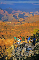 Visitors viewing Grand Canyon From Yavapai Point on the South Rim at Grand Canyon National Park, Arizona, AGPix_0215 .