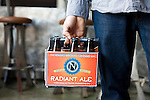 Ninkasi's Radient Ale. Ninkasi is a regional craft brewery making beers in the Northwest style. Their location in Eugene, Oregon affords regional access for their primary ingredients, which include: Water, Malt, Hops and Yeast. With the strong regional hop industry, and access to the McKenzie River, source of some of the cleanest water in the world, Ninkasi is well positioned for their goal of brewing high quality craft beers. The beer's namesake, Ninkasi, was the Sumerian goddess of fermentation.