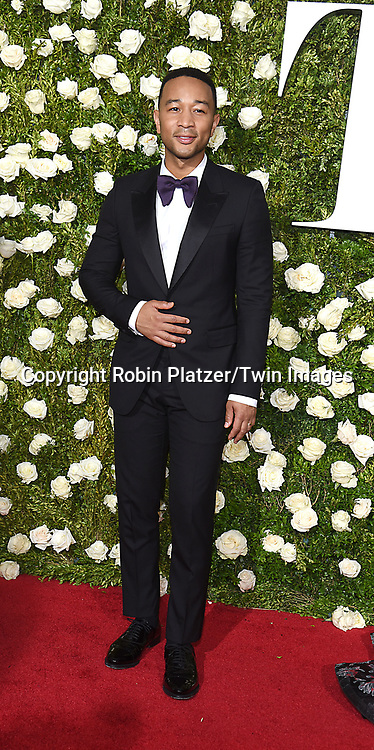 John Legend attends the 71st Annual  Tony Awards on June 11, 2017 at Radio City Music Hall in New York, New York, USA.<br /> <br /> photo by Robin Platzer/Twin Images<br />  <br /> phone number 212-935-0770