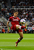 1st October 2017, St James Park, Newcastle upon Tyne, England; EPL Premier League football, Newcastle United versus Liverpool; Philippe Coutinho of Liverpool clears the ball in the 1-1 draw
