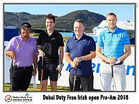 Kiradech Aphibarnrat (THA) team on the 10th tee during Wednesday's Pro-Am of the 2018 Dubai Duty Free Irish Open, held at Ballyliffin Golf Club, Ireland. 4th July 2018.<br /> Picture: Eoin Clarke | Golffile<br /> <br /> <br /> All photos usage must carry mandatory copyright credit (&copy; Golffile | Eoin Clarke)