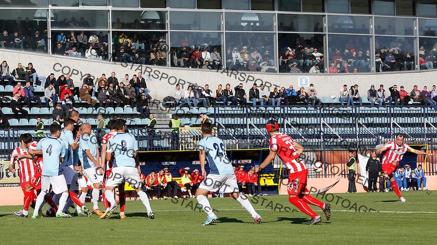 Fudbal Super liga season 2013-2014<br /> Rad v Crvena Zvezda<br /> Nenad Milijas (R) scores the goal<br /> Beograd, 10.11.2013.<br /> foto: Srdjan Stevanovic/Starsportphoto &copy;