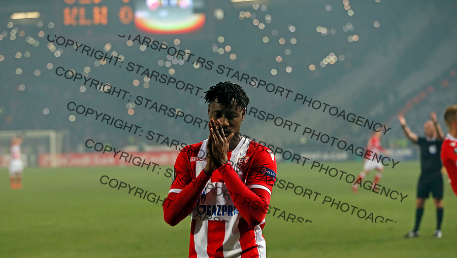 Richmond Boakye UEFA Europa League football match between Crvena Zvezda and Koln in Belgrade, Serbia on December 7. 2017. Pedja Milosavljevic / STARSPORT