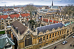 Oxford 2009-03-07. Miasto w południowej Anglli głównie znane jako siedziba Uniwersytetu Oxfordzkiego. Brasenose College.s