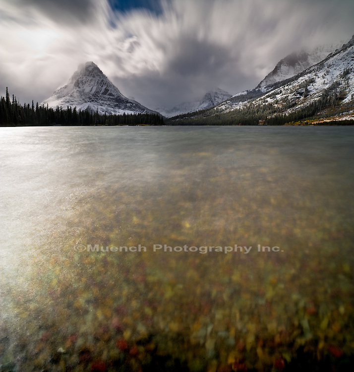 Two Medicine Lake, Sinopah Mountain, Glacier National Park, Montana